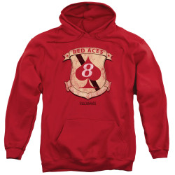 Image for Battlestar Galactica Hoodie - Red Aces Badge