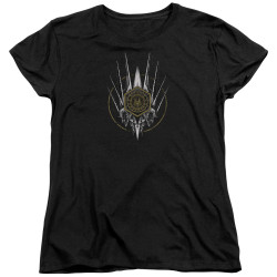 Image for Battlestar Galactica Womans T-Shirt - Crest of Ships