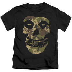 Image for The Misfits Kids T-Shirt - Camo Skull