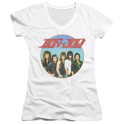 Image for Bon Jovi Girls V Neck - Bon Sphere