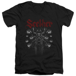 Image for Seether V Neck T-Shirt - Arachnoid