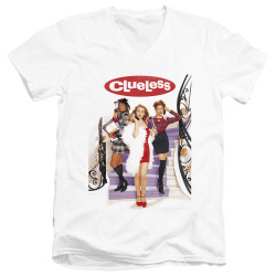 Image for Clueless V Neck T-Shirt - Classic Poster