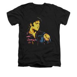 Image for Elvis V-Neck T-Shirt Neon Elvis