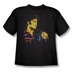 Image for Elvis Youth T-Shirt - Neon Elvis