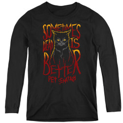 Image for Pet Sematary Women's Long Sleeve T-Shirt - Dead is Better