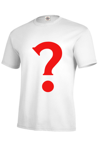 Image for 3 Pack of Mystery Shirts - note not a white t-shirt with a big red question mark on it.  See description.