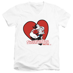 Image for Popeye the Sailor T-Shirt - V Neck - Sweethearts