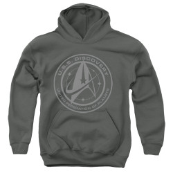 Image for Star Trek Discovery Youth Hoodie - Discovery Crest