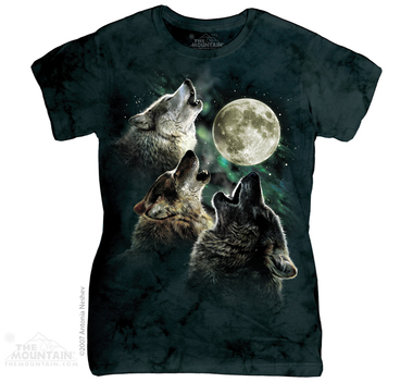 Image for The Mountain Girls T-Shirt - Three Wolf Moon
