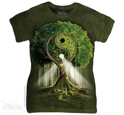 Image for The Mountain Girls T-Shirt - Yin Yang Tree