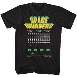 Image for Space Invaders Old Screen T-Shirt