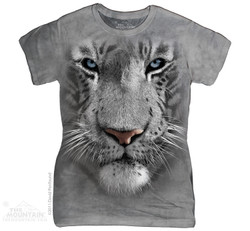 Image for The Mountain Girls T-Shirt - White Tiger Face