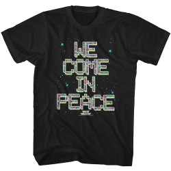 Image for Space Invaders We Come in Peace T-Shirt