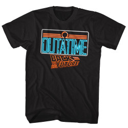 Image for Back to the Future T-Shirt - Neon Outtatime