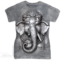 Image for The Mountain Girls T-Shirt - Big Face Ganesh