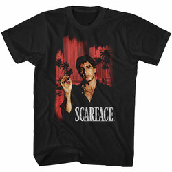 Image for Scarface T-Shirt - Red Cityscape