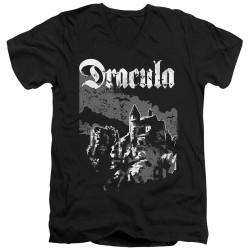Image for Dracula V Neck T-Shirt - Castle