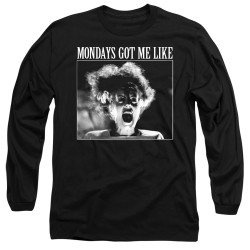 Image for Bride of Frankenstein Long Sleeve Shirt - Mondays Got Me Like