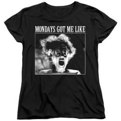 Image for Bride of Frankenstein Womans T-Shirt - Mondays Got Me Like