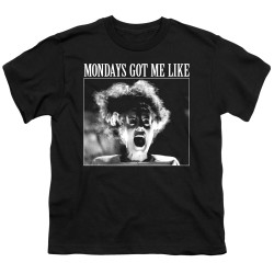 Image for Bride of Frankenstein Youth T-Shirt - Mondays Got Me Like
