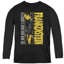Image for Frankenstein Women's Long Sleeve T-Shirt - The Man Who Made a Monster