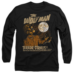 Image for The Wolfman Long Sleeve Shirt - Terror Strikes