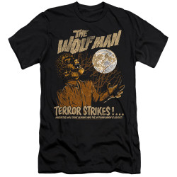 Image for The Wolfman Premium Canvas Premium Shirt - Terror Strikes