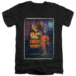 Image for The Mummy V Neck T-Shirt - One Sheet