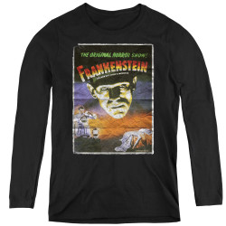 Image for Frankenstein Women's Long Sleeve T-Shirt - One Sheet