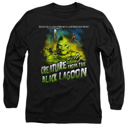 Image for The Creature From the Black Lagoon Long Sleeve Shirt - Not Since the Beginning of Time