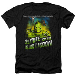 Image for The Creature From the Black Lagoon Heather T-Shirt - Not Since the Beginning of Time