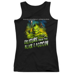 Image for The Creature From the Black Lagoon Girls Tank Top - Not Since the Beginning of Time