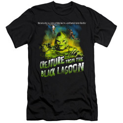 Image for The Creature From the Black Lagoon Premium Canvas Premium Shirt - Not Since the Beginning of Time