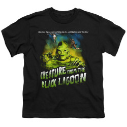 Image for The Creature From the Black Lagoon Youth T-Shirt - Not Since the Beginning of Time