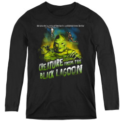 Image for The Creature From the Black Lagoon Women's Long Sleeve T-Shirt - Not Since the Beginning of Time