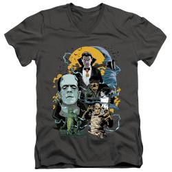 Image for Universal Monsters V Neck T-Shirt - Monster Mash