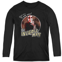 Image for The Invisible Man Women's Long Sleeve T-Shirt - Catch Him if You Can