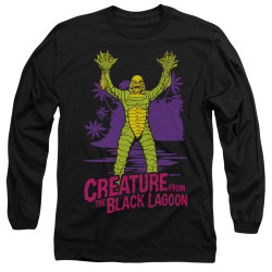 Image for The Creature From the Black Lagoon Long Sleeve Shirt - From Forbidden Depths