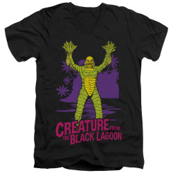 Image for The Creature From the Black Lagoon V Neck T-Shirt - From Forbidden Depths