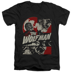 Image for The Wolfman V Neck T-Shirt - When the Wolfbane Blooms