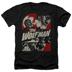 Image for The Wolfman Heather T-Shirt - When the Wolfbane Blooms