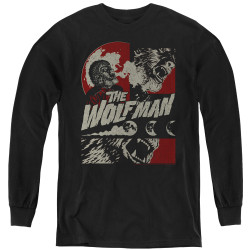 Image for The Wolfman Youth Long Sleeve T-Shirt - When the Wolfbane Blooms