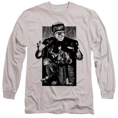 Image for Frankenstein Long Sleeve Shirt - Monoton Illustrated