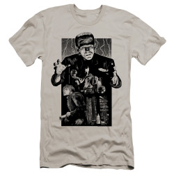Image for Frankenstein Premium Canvas Premium Shirt - Monoton Illustrated