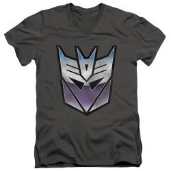 Image for Transformers T-Shirt - V Neck - Vintage Decepticon Logo
