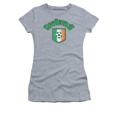 Image for Saint Patricks Day Girls T-Shirt - Irish Football Flag