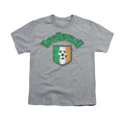 Image for Saint Patricks Day Youth T-Shirt - Irish Football Flag