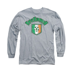 Image for Saint Patricks Day Long Sleeve T-Shirt - Irish Football Flag