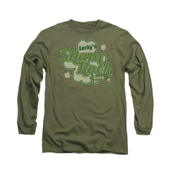 Image for Saint Patricks Day Long Sleeve T-Shirt - Lucky Shamrock Cafe