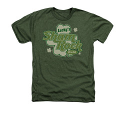 Image for Saint Patricks Day Heather T-Shirt - Lucky Shamrock Cafe